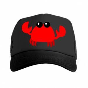 Czapka trucker Small pink crab