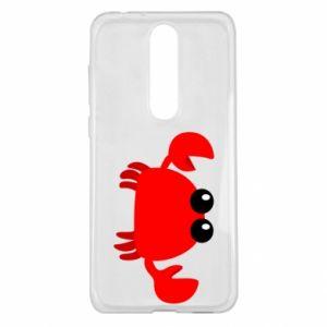Etui na Nokia 5.1 Plus Small pink crab