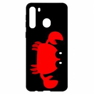 Etui na Samsung A21 Small pink crab