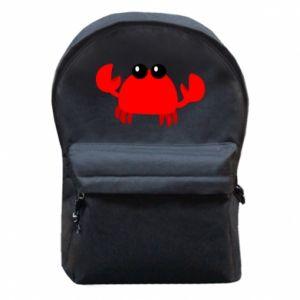 Plecak z przednią kieszenią Small pink crab