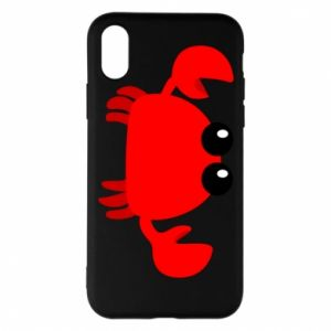 Etui na iPhone X/Xs Small pink crab