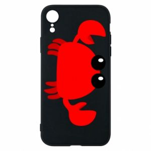 Etui na iPhone XR Small pink crab