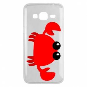 Etui na Samsung J3 2016 Small pink crab