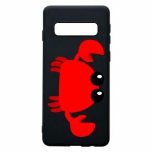 Etui na Samsung S10 Small pink crab