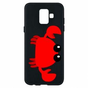 Etui na Samsung A6 2018 Small pink crab