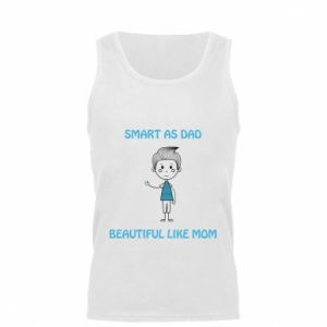 Męska koszulka Smart as dad - PrintSalon