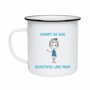 Kubek emaliowane Smart as dad - PrintSalon