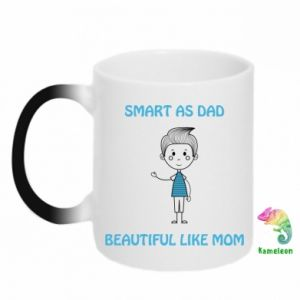 Chameleon mugs Smart as dad