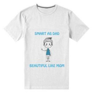 Męska premium koszulka Smart as dad - PrintSalon