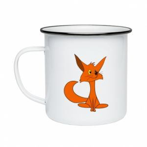 Enameled mug Smart Fox