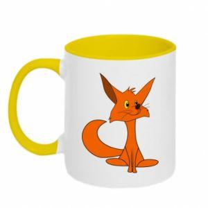 Kubek dwukolorowy Smart Fox - PrintSalon