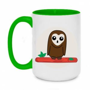 Two-toned mug 450ml Funny owl