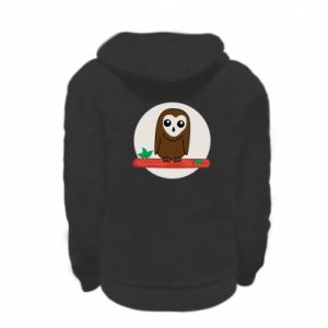 Kid's zipped hoodie % print% Funny owl