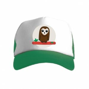 Kid's Trucker Hat Funny owl