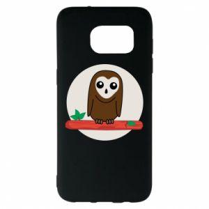 Samsung S7 EDGE Case Funny owl