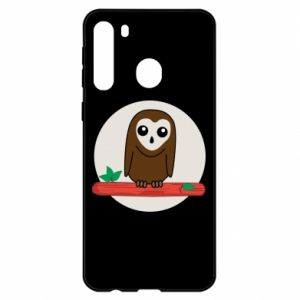 Samsung A21 Case Funny owl