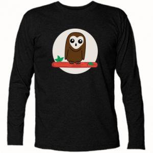 Koszulka z długim rękawem Śmieszna sowa