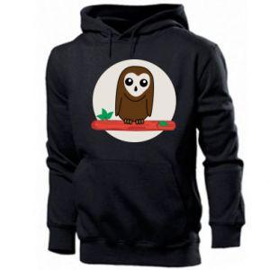 Men's hoodie Funny owl