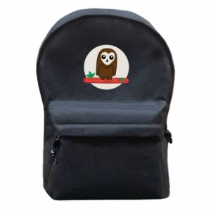 Backpack with front pocket Funny owl