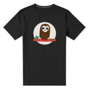 Męska premium koszulka Śmieszna sowa