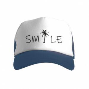 Czapka trucker dziecięca Smile inscription