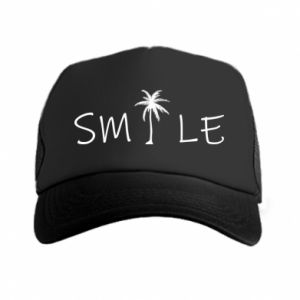 Czapka trucker Smile inscription