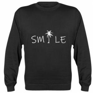 Sweatshirt Smile inscription