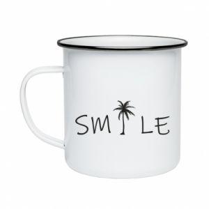 Kubek emaliowane Smile inscription