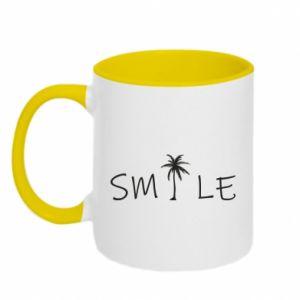 Kubek dwukolorowy Smile inscription