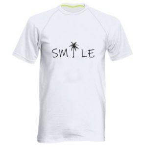 Męska koszulka sportowa Smile inscription