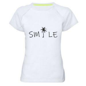Damska koszulka sportowa Smile inscription