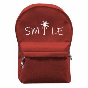 Backpack with front pocket Smile inscription