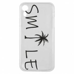 Etui na iPhone XR Smile inscription