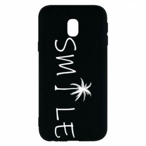Etui na Samsung J3 2017 Smile inscription