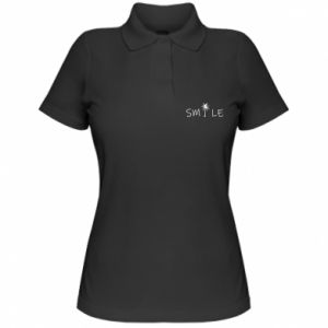 Koszulka polo damska Smile inscription