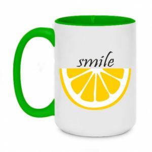 Kubek dwukolorowy 450ml Smile lemon