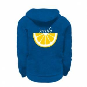 Bluza na zamek dziecięca Smile lemon