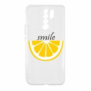 Etui na Xiaomi Redmi 9 Smile lemon