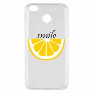 Etui na Xiaomi Redmi 4X Smile lemon