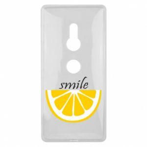 Etui na Sony Xperia XZ2 Smile lemon