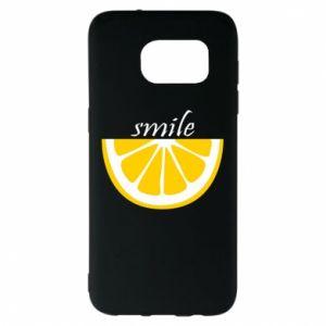 Etui na Samsung S7 EDGE Smile lemon