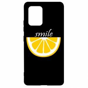 Etui na Samsung S10 Lite Smile lemon