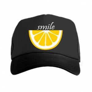 Czapka trucker Smile lemon