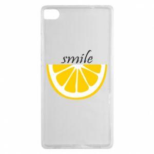 Etui na Huawei P8 Smile lemon