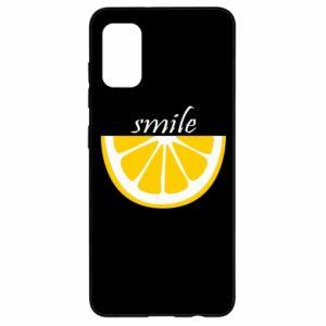 Etui na Samsung A41 Smile lemon