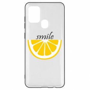 Etui na Samsung A21s Smile lemon