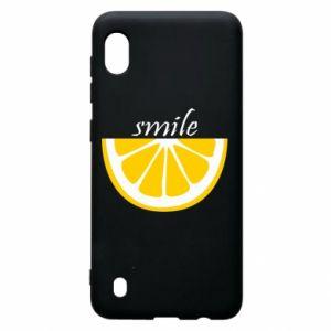 Etui na Samsung A10 Smile lemon
