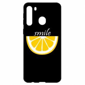 Etui na Samsung A21 Smile lemon