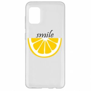 Etui na Samsung A31 Smile lemon