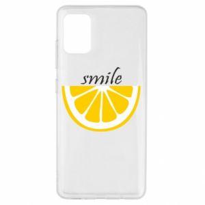 Etui na Samsung A51 Smile lemon